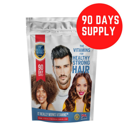 Vitamins for Healthy Strong Hair (90 Day Supply) - Vitamins
