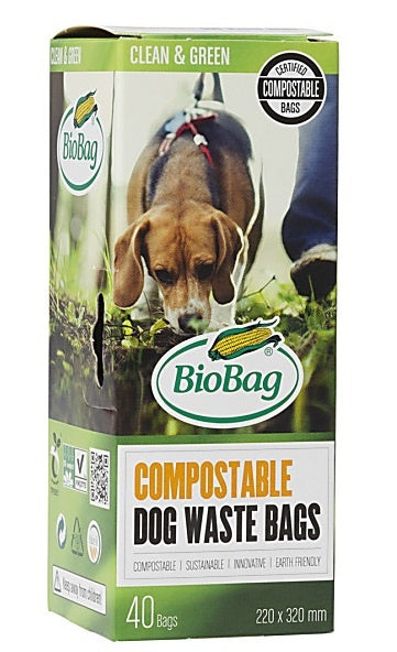 BioBag Compostable Doggy Waste Bags - 40 Bags