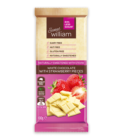 Sweet William White Strawberry Chocolate - No added sugar