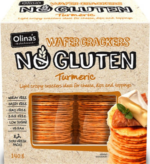 Olinas Wafer Crackers - Turmeric 140g