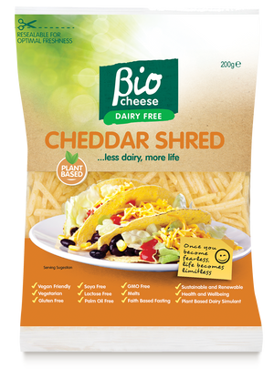Bio Cheese Cheddar Shreds 200g (cold)