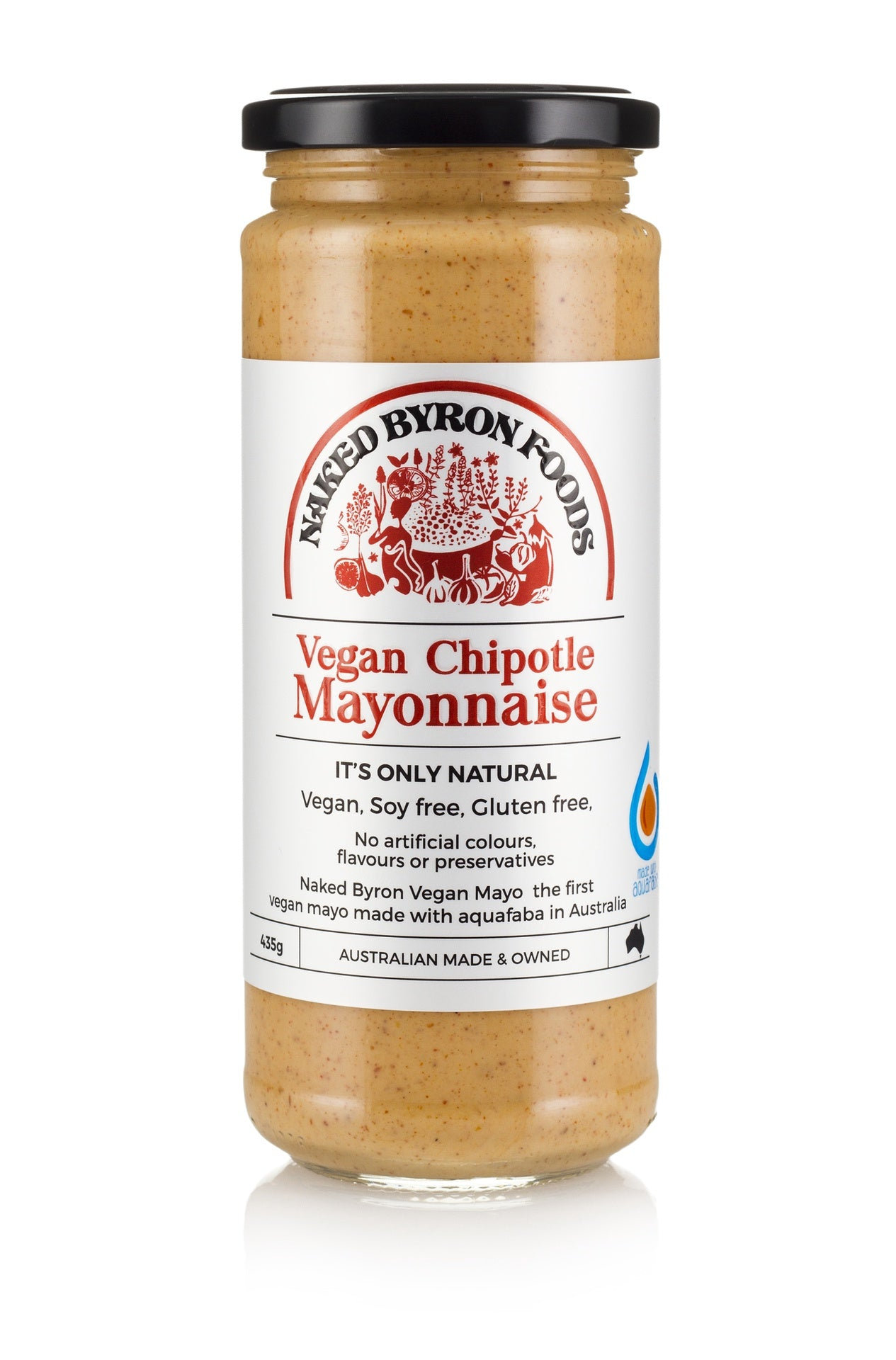 Naked Byron Foods Vegan Chipotle Mayonnaise 435g Cold Vegan Grocery Store