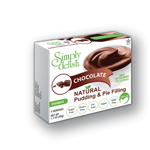 Simply Delish Chocolate Pudding & Pie Filling Mix 44g