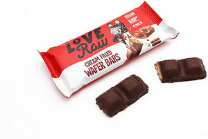 LoveRaw Cream Filled Wafer Bars 43g