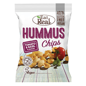 Eat Real Hummus Chips - Tomato & Basil 135g