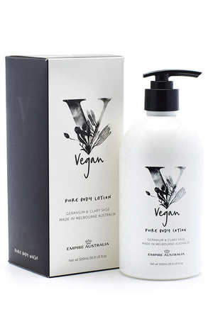 Empire Vegan Body Lotion - Geranium & Clary Sage 500ml