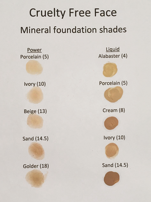 Cruelty Free FACE Liquid Foundation - Porcelain (5)