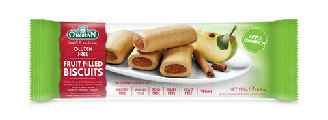 Orgran Apple Cinnamon Fruit Filled Biscuit
