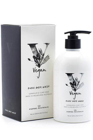 Empire Vegan Body Wash - Geranium & Clary Sage 500ml