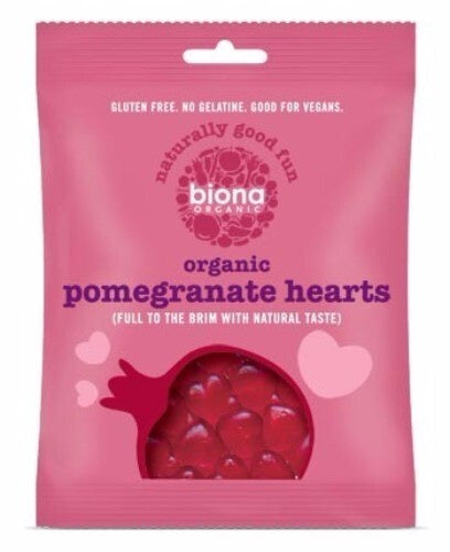 Biona Pomegranate Hearts 75g