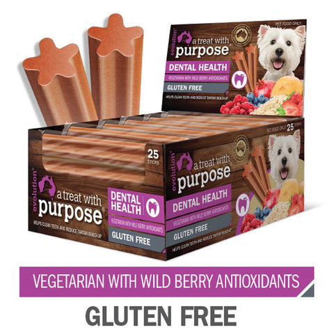 Dental Chews for Dogs with Berry Antioxidants