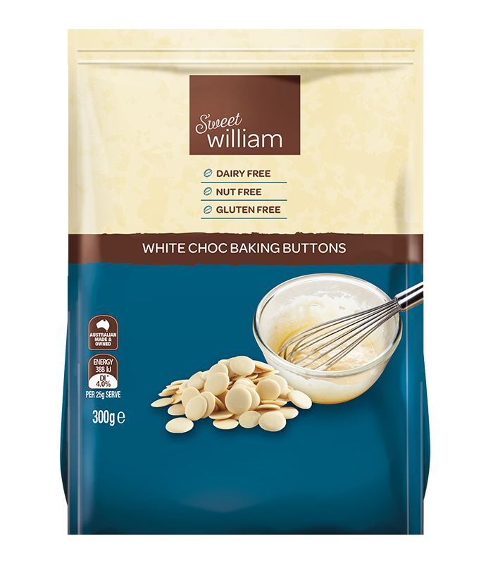 0bd2d3a14950 Sweet William White Chocolate Baking Buttons 300g – The Cruelty Free Shop
