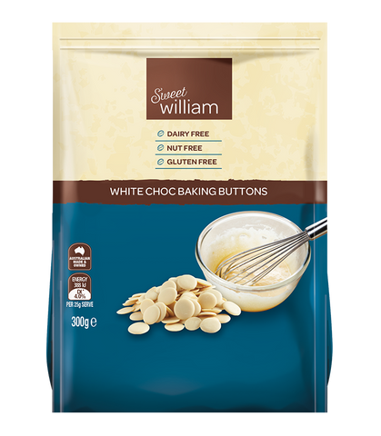 Sweet William White Chocolate Baking Buttons 300g