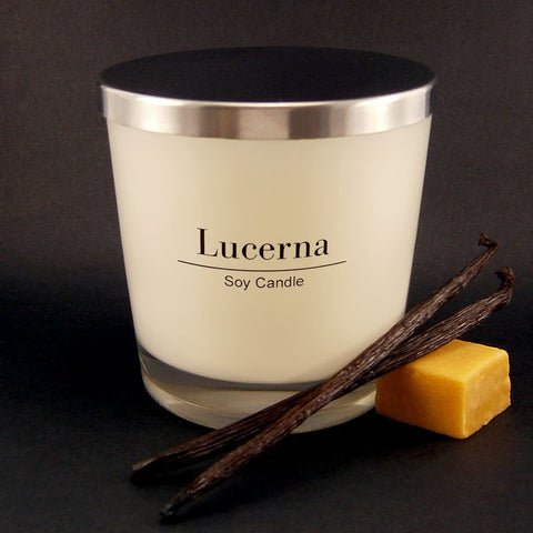 Lucerna Large Caramel Vanilla Fudge Candle