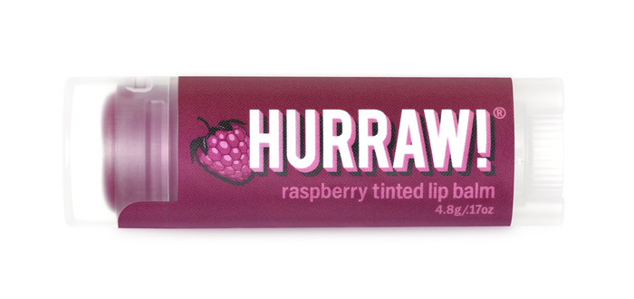 Hurraw Raspberry Tinted Lip Balm