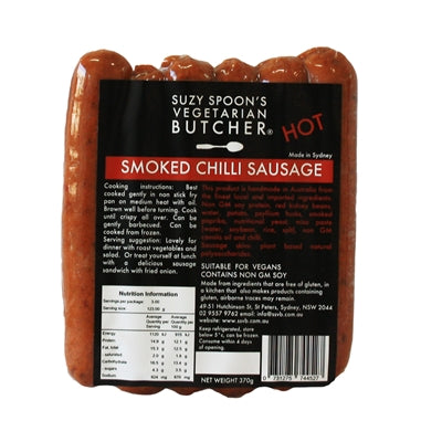 Suzy Spoons Smoked Paprika & Chilli Sausages (cold)