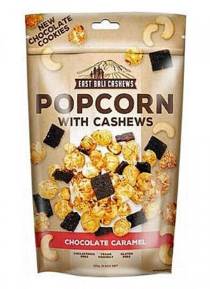 East Bali Choc Caramel Popcorn with Cashews 90g