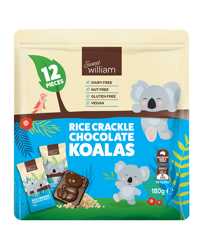 Sweet William Chocolate Koala Multipack 180g