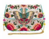 Dream Chaser Beaded Butterfly Crossbody Clutch Handbag