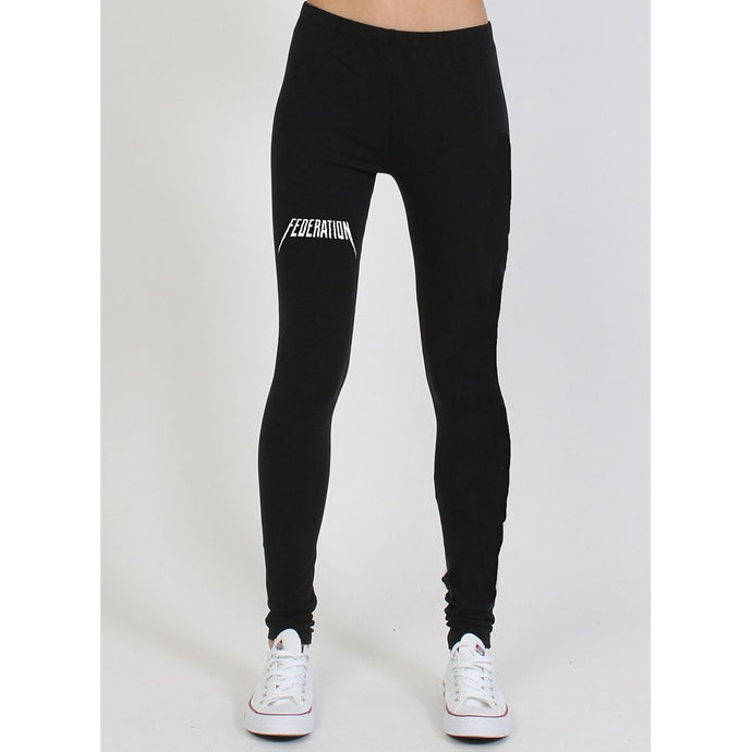 Federation Play Legging (Yeez) - Black/White