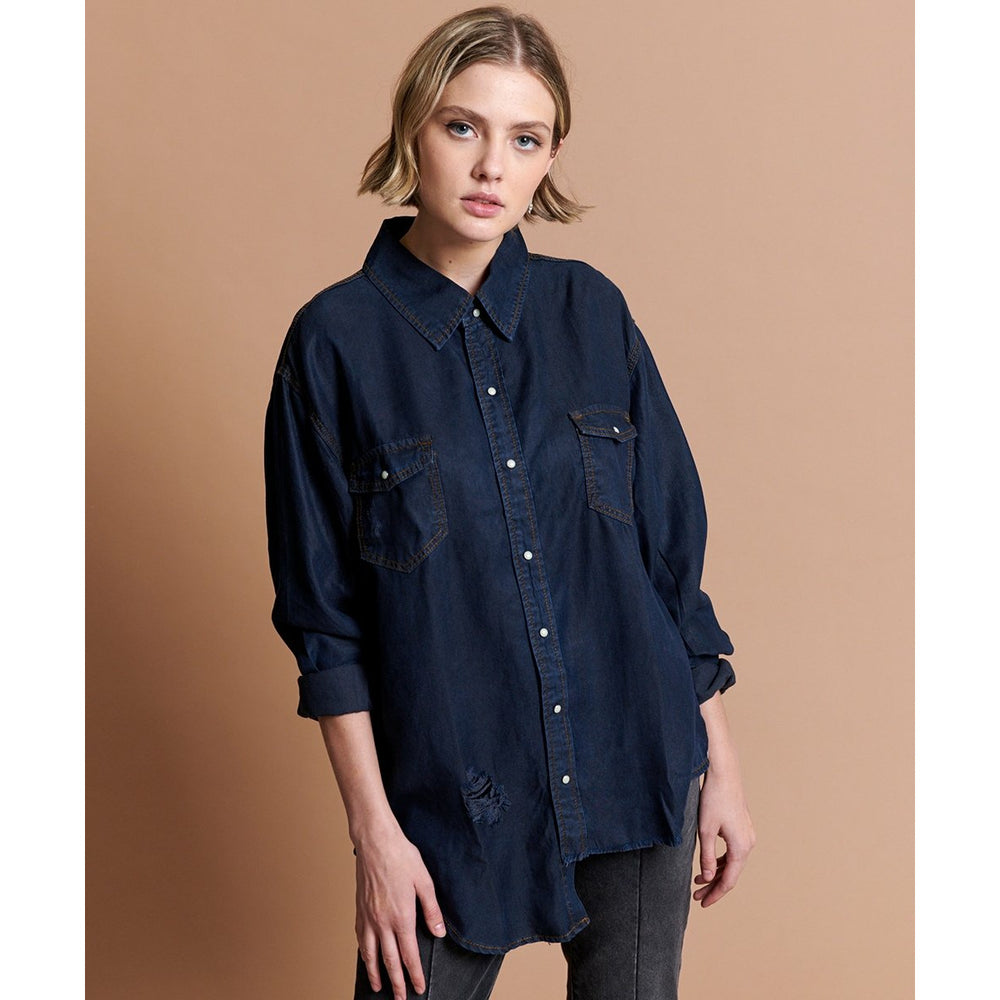 One Teaspoon Capri Liberty Tencil Shirt - Capri