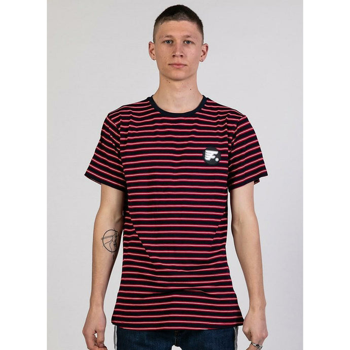 Federation Striped Look Tee - Red Stripe