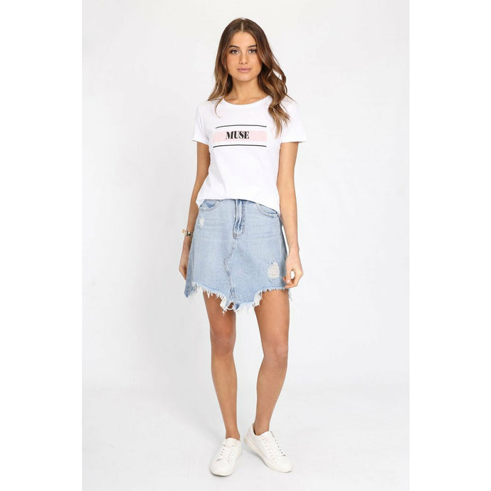 Madison The Label Jaymee Denim Skirt - Denim