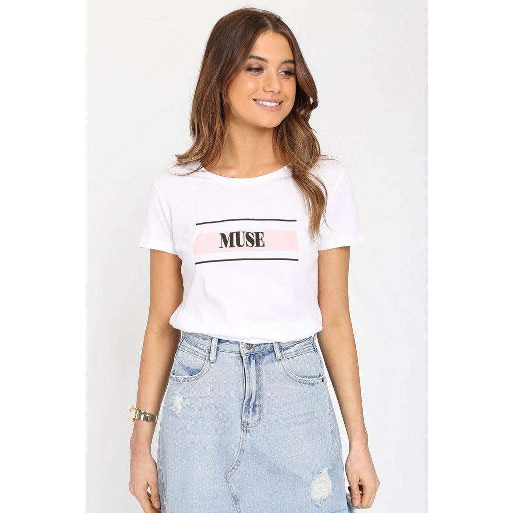 Madison The Label Muse Tee - White