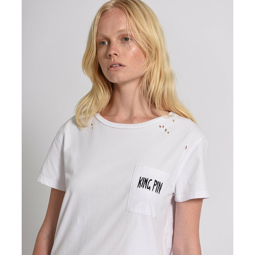 One Teaspoon Kingpin Pocket Tee - White