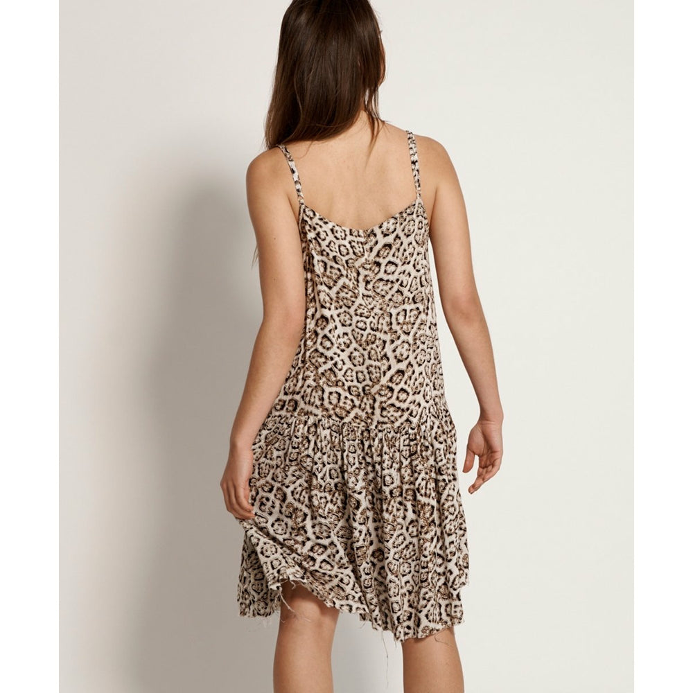 One Teaspoon Stone Leopard Savanna Dress - Stone Leopard