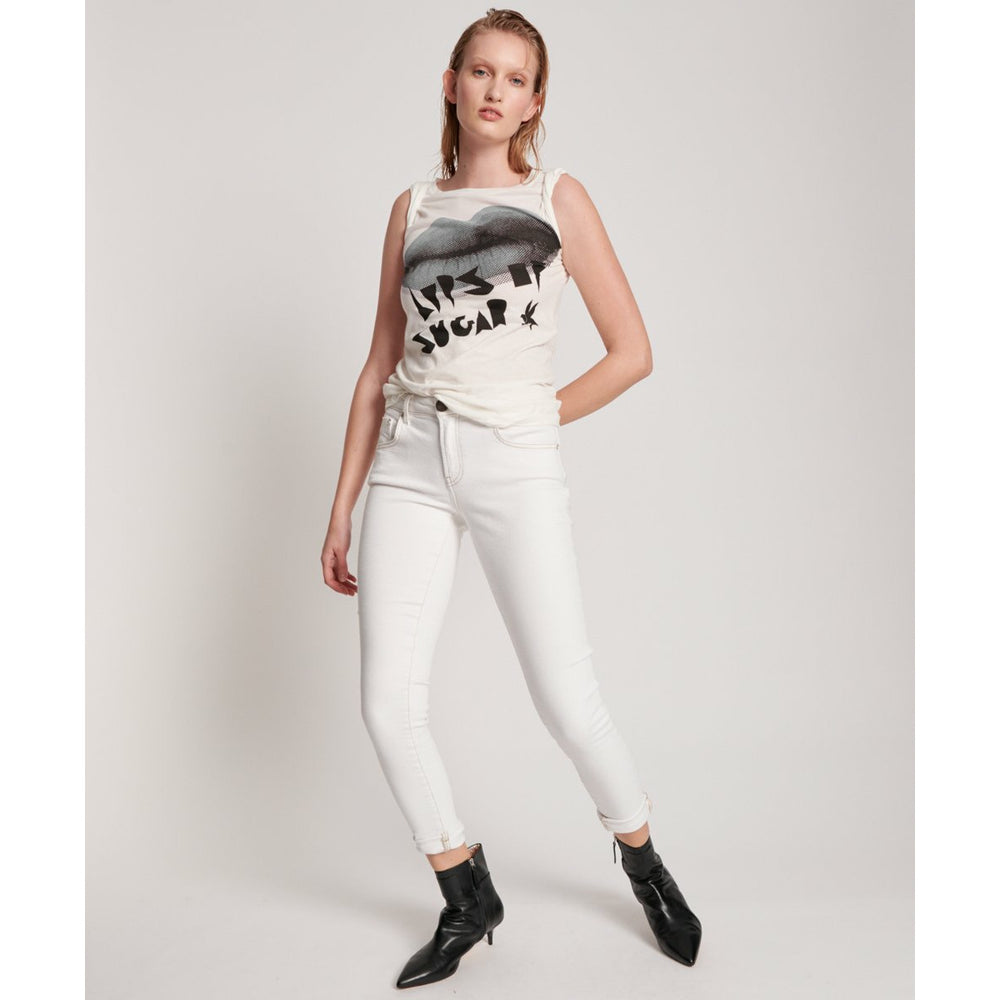 One Teaspoon White Freebirds II High Waist Skinny Jean - White