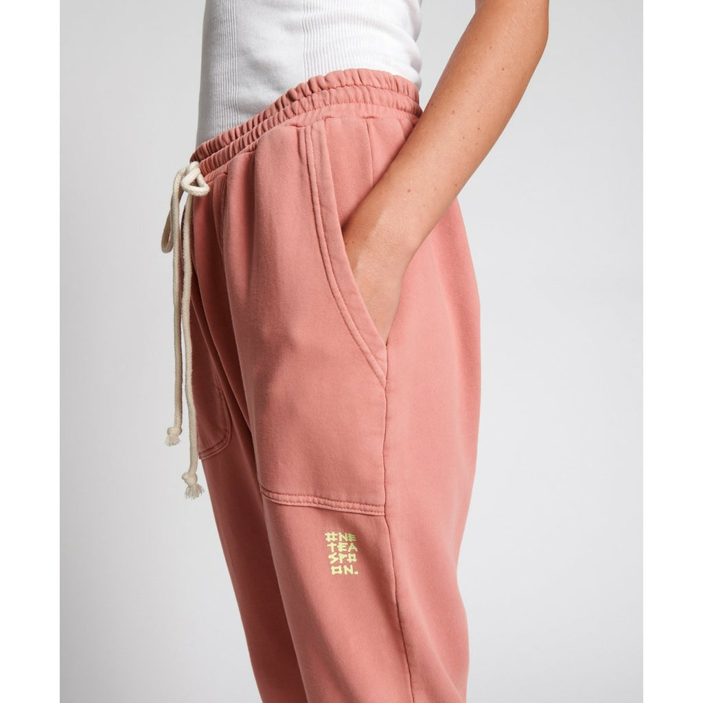 One Teaspoon Cargo Sweat Pants - Worn Pink