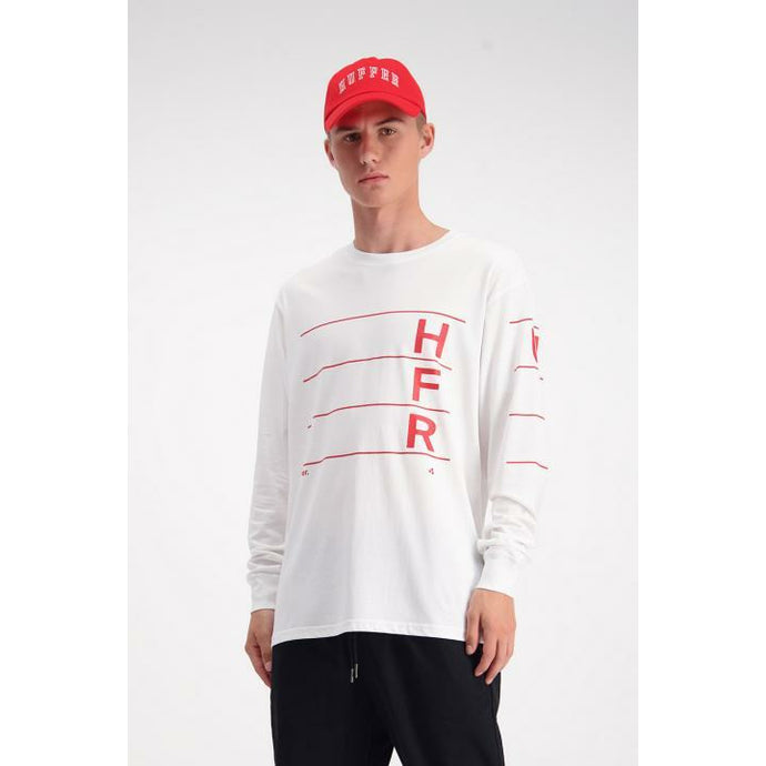 Huffer LS Sup/Linear Tee - White
