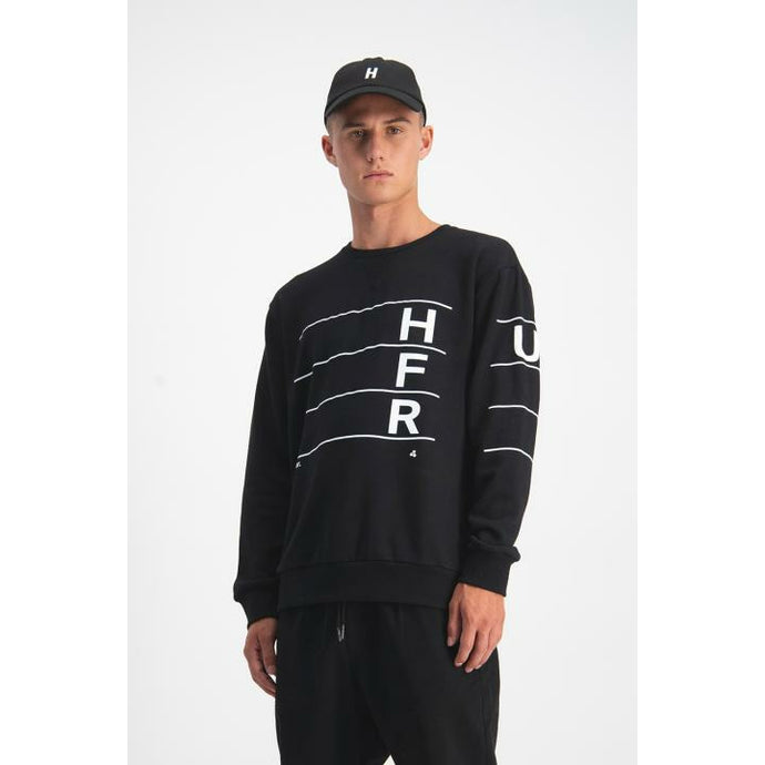 Huffer Linear True Crew - Black