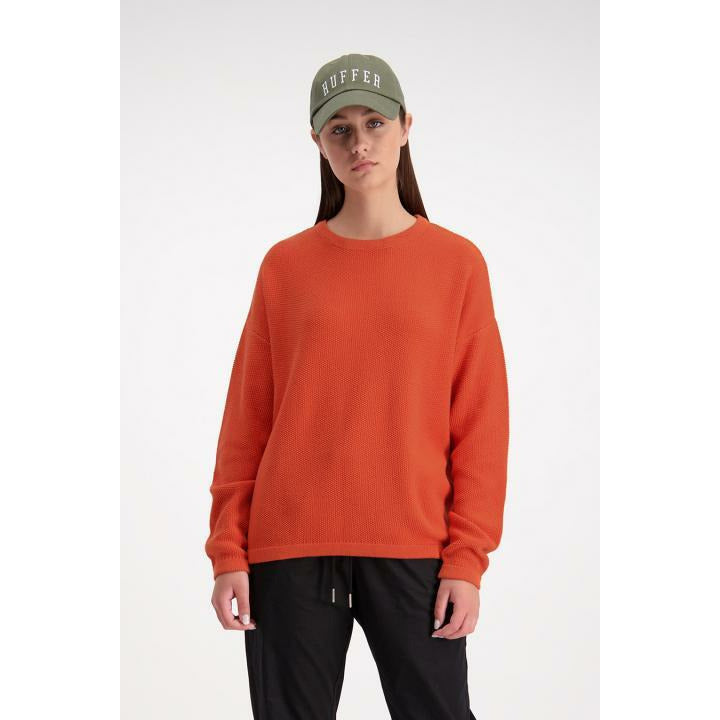 Huffer Chloe Knit Crew - Orange