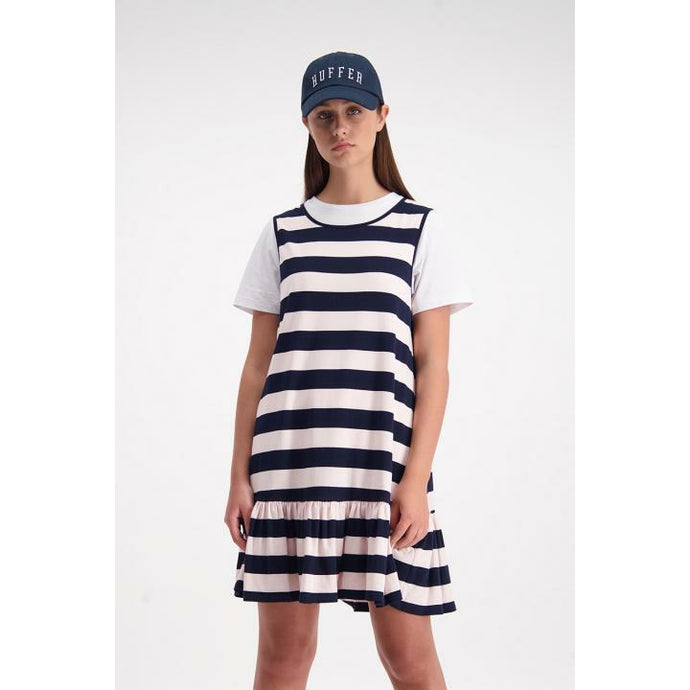 Huffer Night Lights Port Dress - Navy/Pink