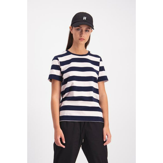 Huffer Night Lights Stella Tee - Navy/Pink