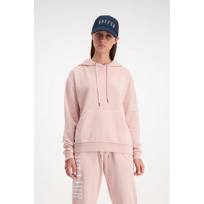 Huffer Slouch Hood/Cont Badge - Dusky Pink