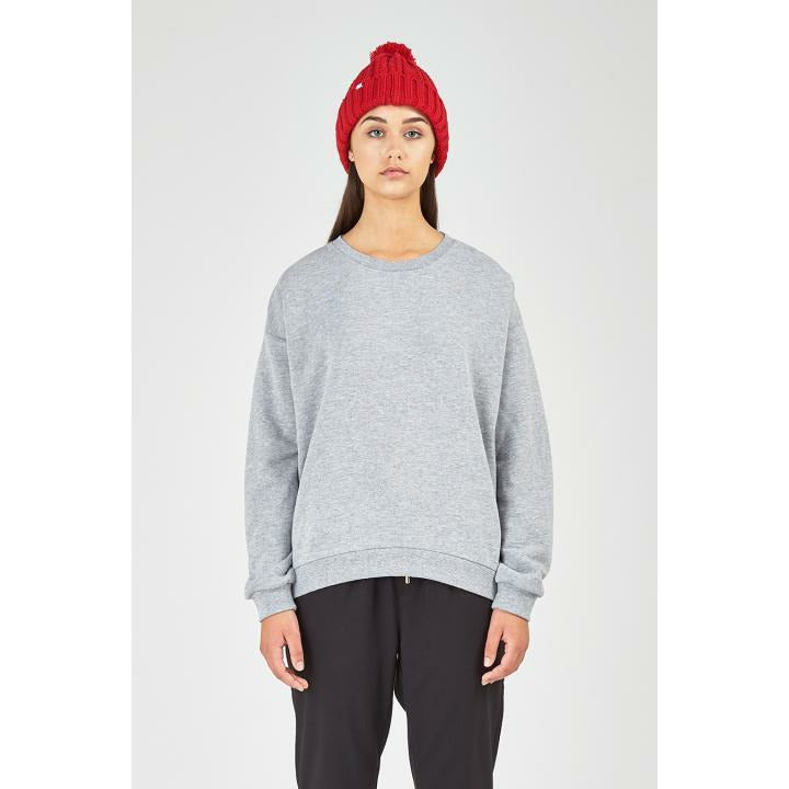 Huffer Slouch Crew 2.0 / Cont Badge - Grey Marle
