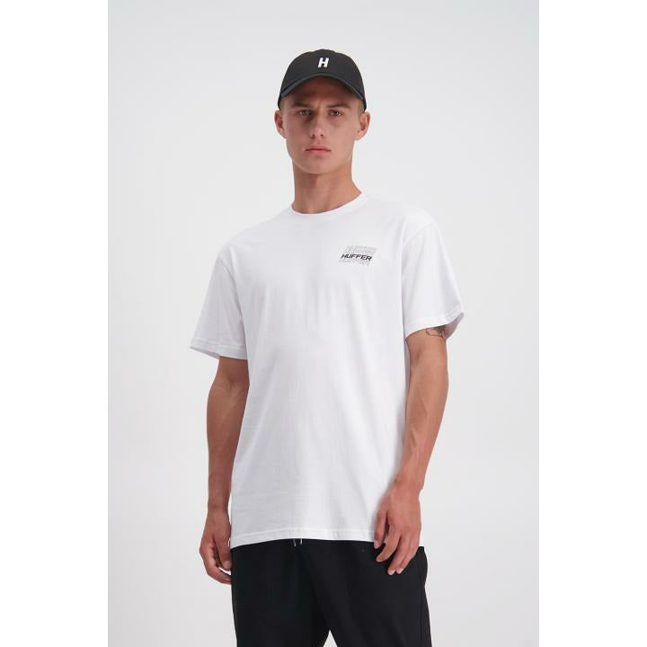 Huffer Collective Sup Tee - White