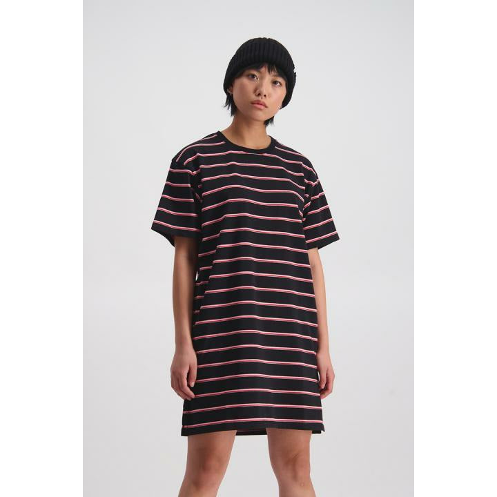 Huffer Kara T-Shirt Dress - Black/Pink
