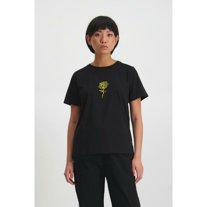 Huffer Crushed Stella Tee - Black