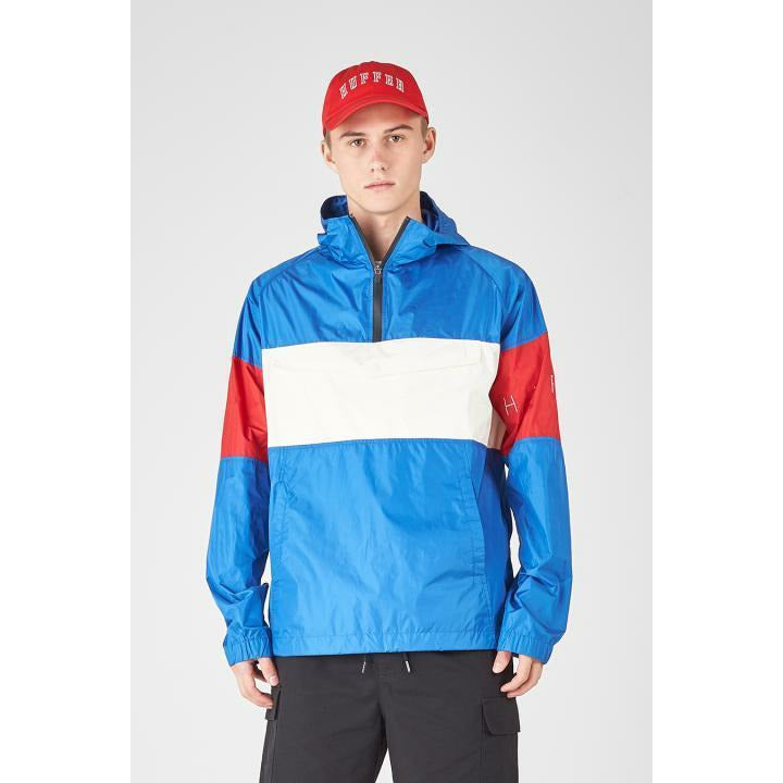 Huffer Track Shell Anorak - Blue/Red