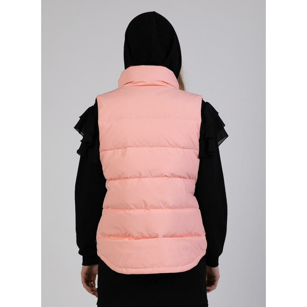 Federation Puff Vest - Pink/Red