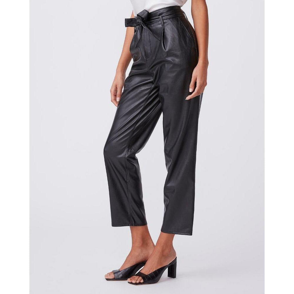Paige Melila Pant - Black Vegan Leather