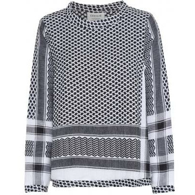 Cecilie Copenhagen Shirt O Long Sleeve - Black/White
