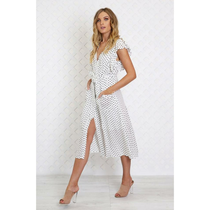 Madison The Label Kyree Maxi Dress - White Spot