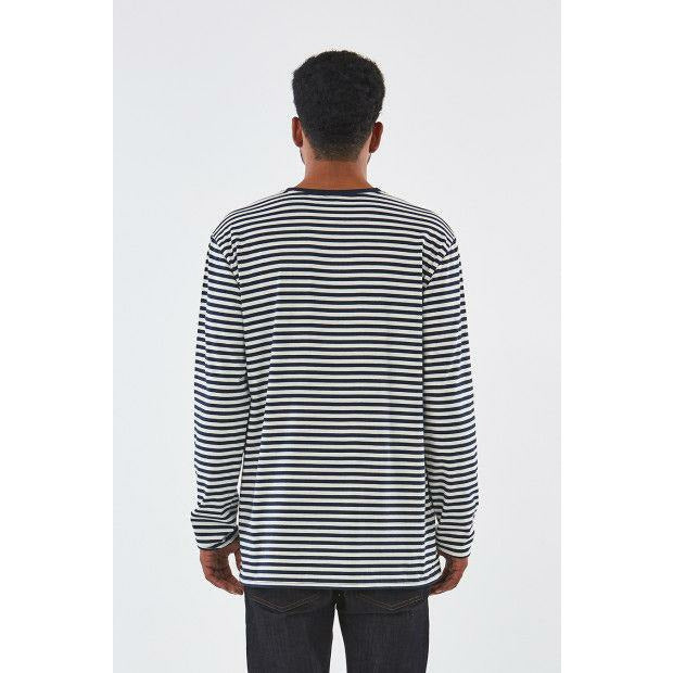 Huffer LS Stripe Tee - Black/White