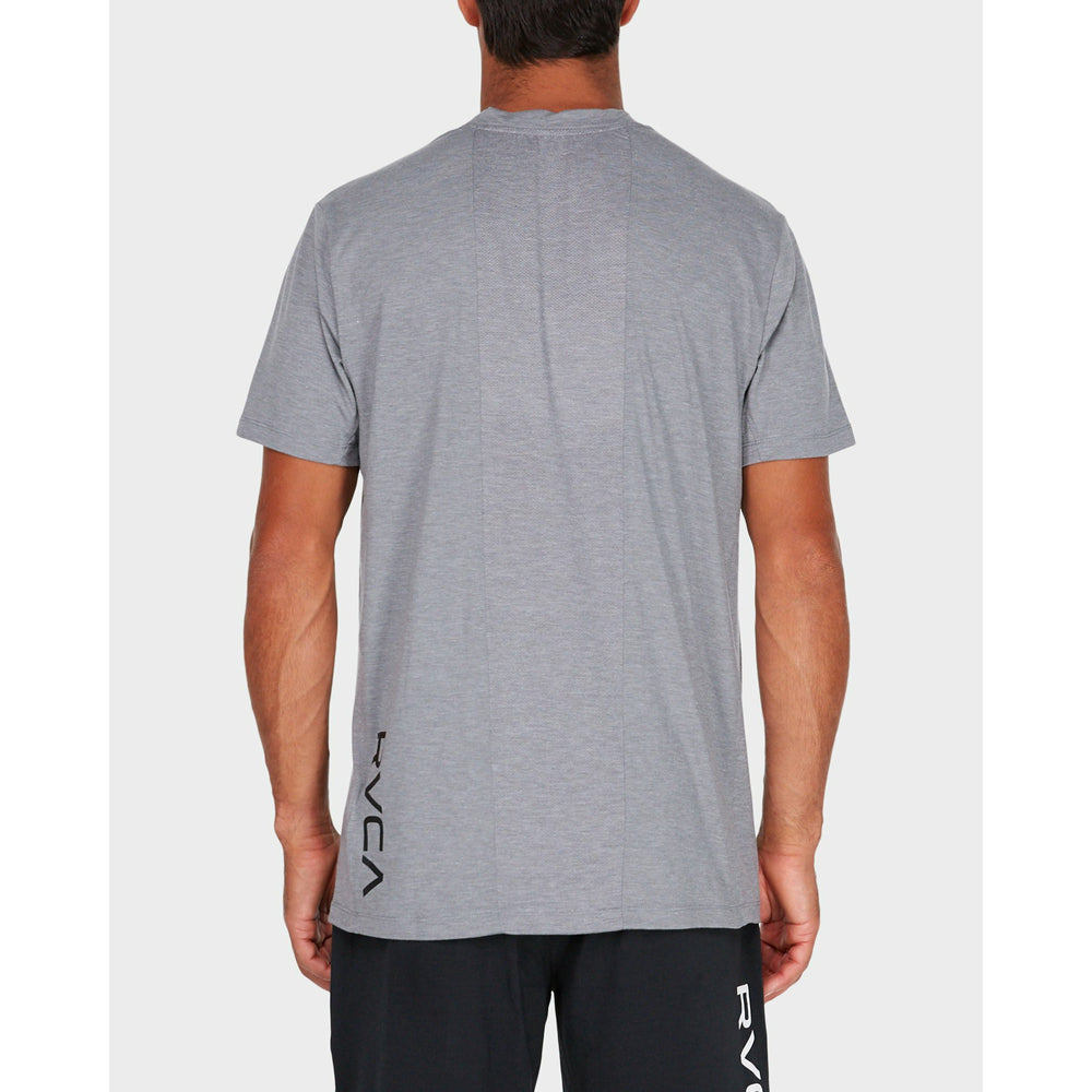 RVCA VA Vent S/S Top - Heather Grey