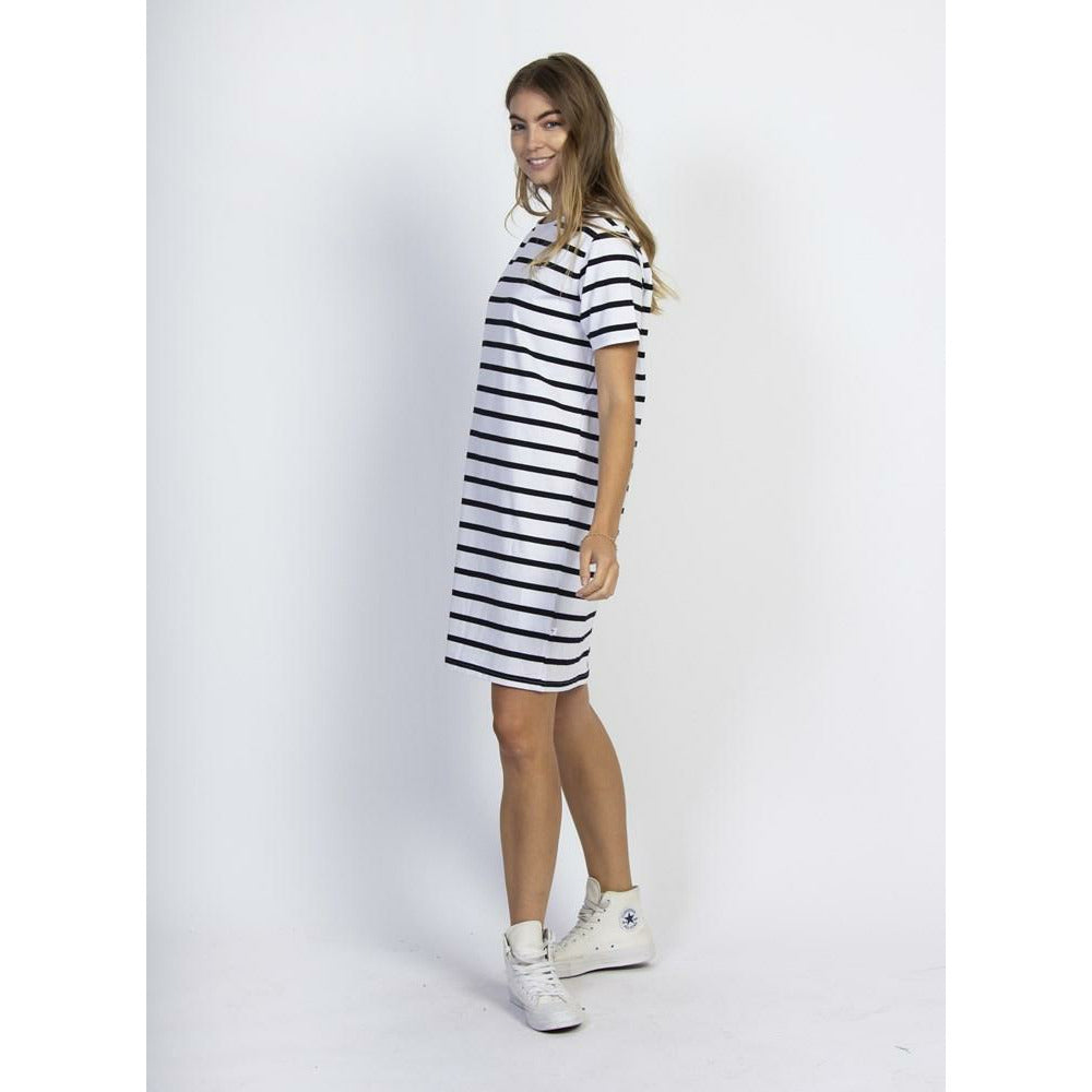 Federation Ace Dress (Plus Dot) - Black/White